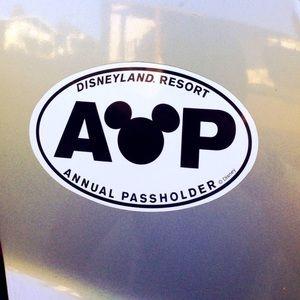 Disneyland Resort Annual Pass-holder Car Magnet